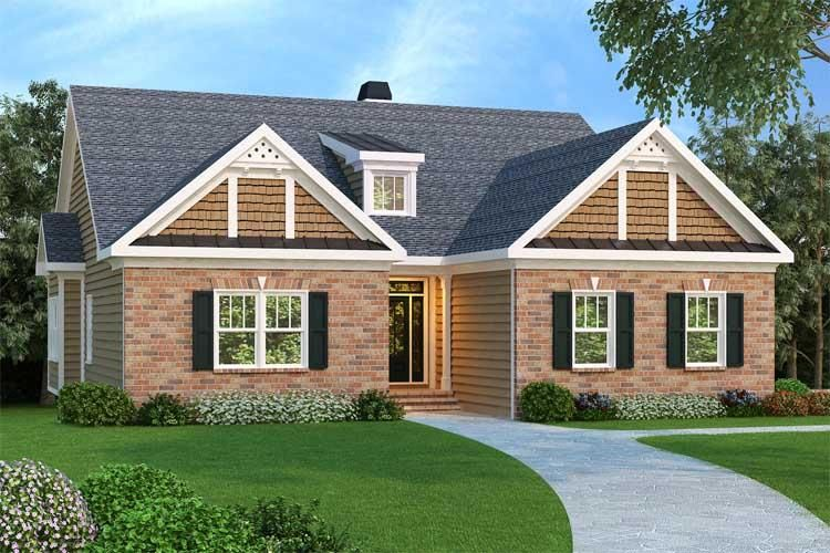 House Plan 009 00086 Ranch Plan 1 861 Square Feet 3 Bedrooms 2 Bathrooms Ranch Style House Plans Ranch House Plans Craftsman Style House Plans