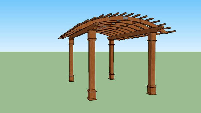 Image result for Pergola sketchup | Pergola, Backyard ... on Sketchup Backyard id=19599
