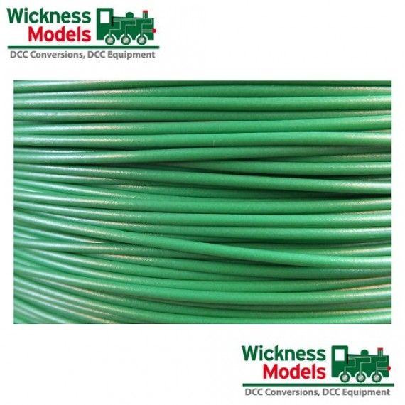 Track Bus Wire Green Model Railway Cable From Wickness Models