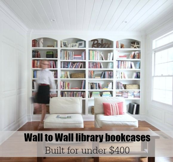 Library Wall To Wall Bookcases Free And Easy Plans From Https - How to build a wall bookshelf