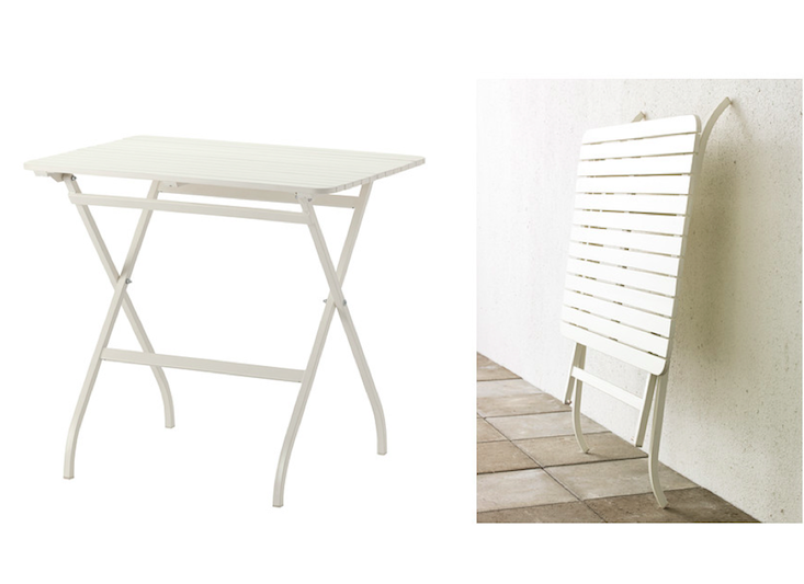 Perfect for your balcony or other small spaces as it can be folded