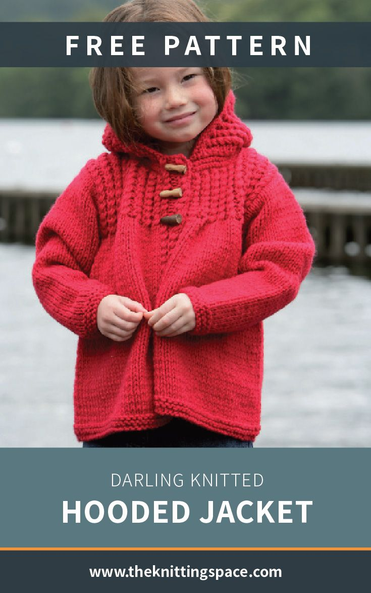 Darling Knitted Hooded Jacket [FREE Knitting Pattern]