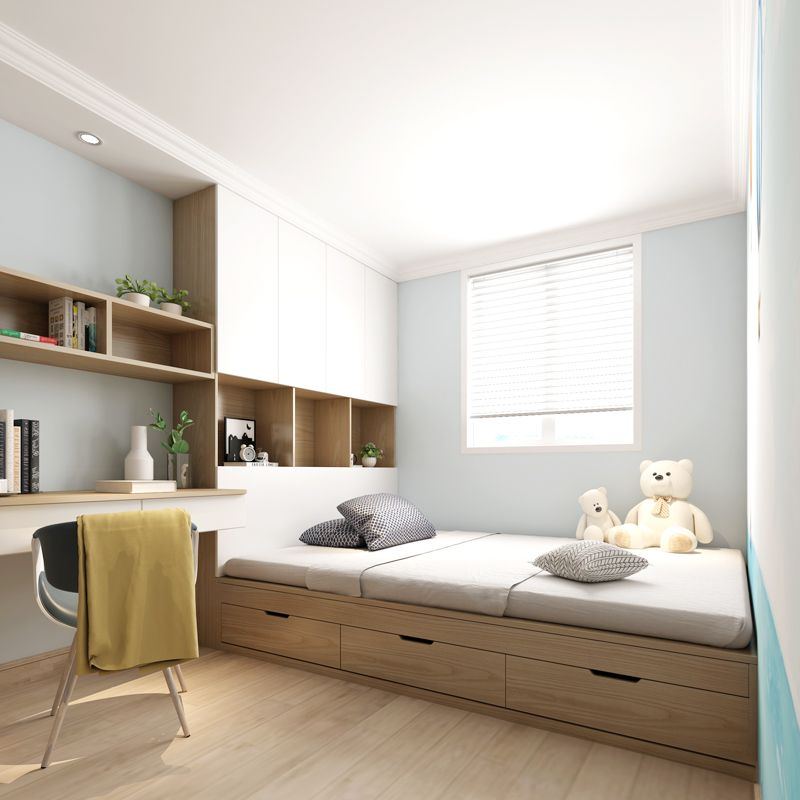 Japanese Style Tatami Bed Wardrobe Integrated High Box Storage Bed 1 2 M Small Apartment Mod Small Room Design Bedroom Small Bedroom Layout Tiny Bedroom Design Japanese small bedroom ideas