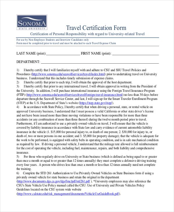 Travelers Can Get A Hold With This Travel Certificate Template So