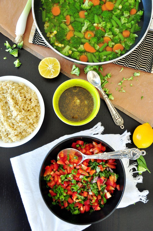 Healthy Quinoa Bowl Process