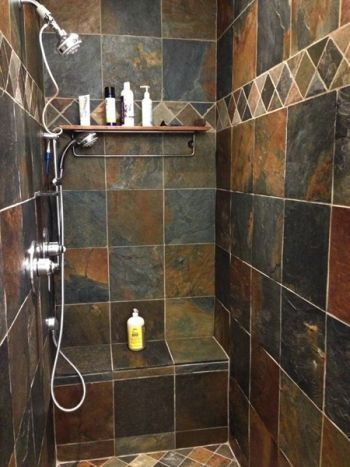Sacramento Company Shows How to Clean Slate Bathroom Tile ...