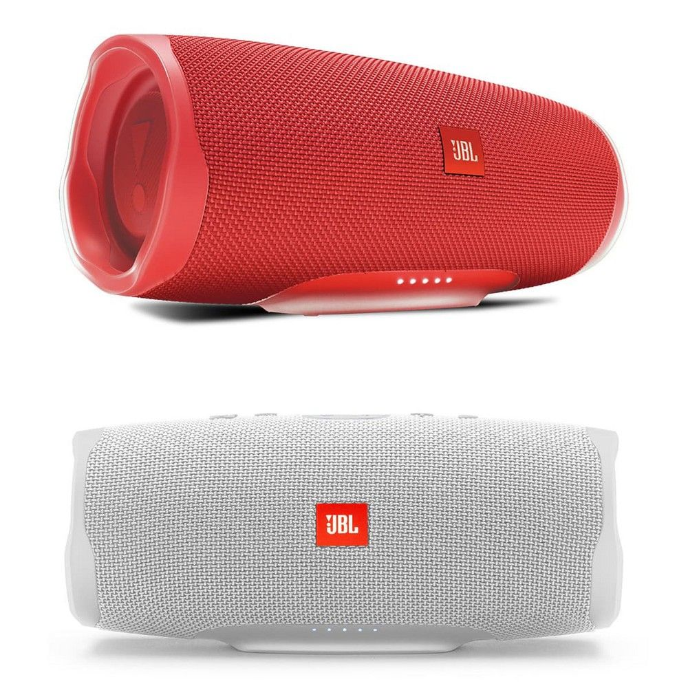 Jbl Charge 4 Waterproof Portable Wireless Bluetooth Speaker Bundle Pair Black Red Bluetooth