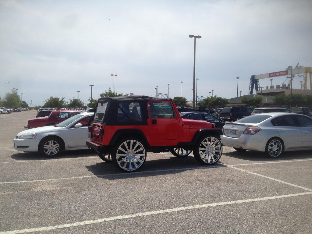 Ugly Jeep Heep Wrangler Cars Pinterest Pimped Red Rubicon