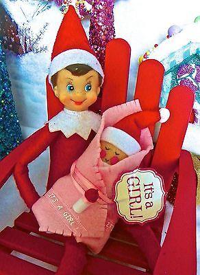 Elfkin Baby Girl Elf On Shelf Christmas Elf Baby Elf On The