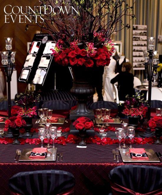 Dark Red Wedding Decorations: Rock'n Roll Wedding Decorations