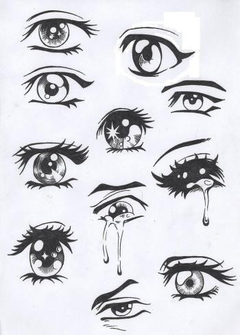 Les Yeux Mangas Dessin Peinture Pinterest Desenhos Olhos