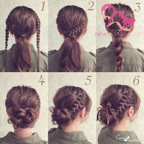 Inspiring And Easy Hairstyles For Girls To Look Cute Braided Hairstyles Updo Lazy Hairstyles Hairstyle