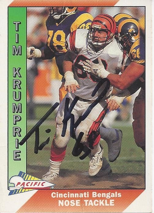 Tim Krumrie AUTOGRAPHED ERROR Football by FloridaFindersSports, $20.00