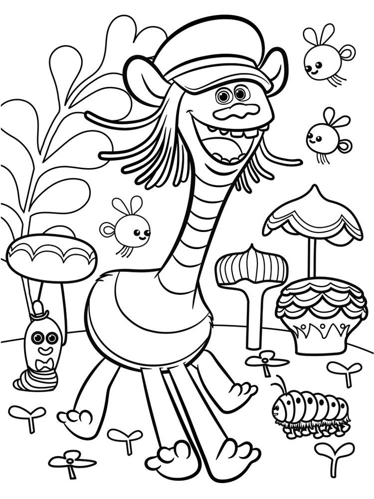 Printable Trolls Coloring Pages Free Coloring Sheets In 2020