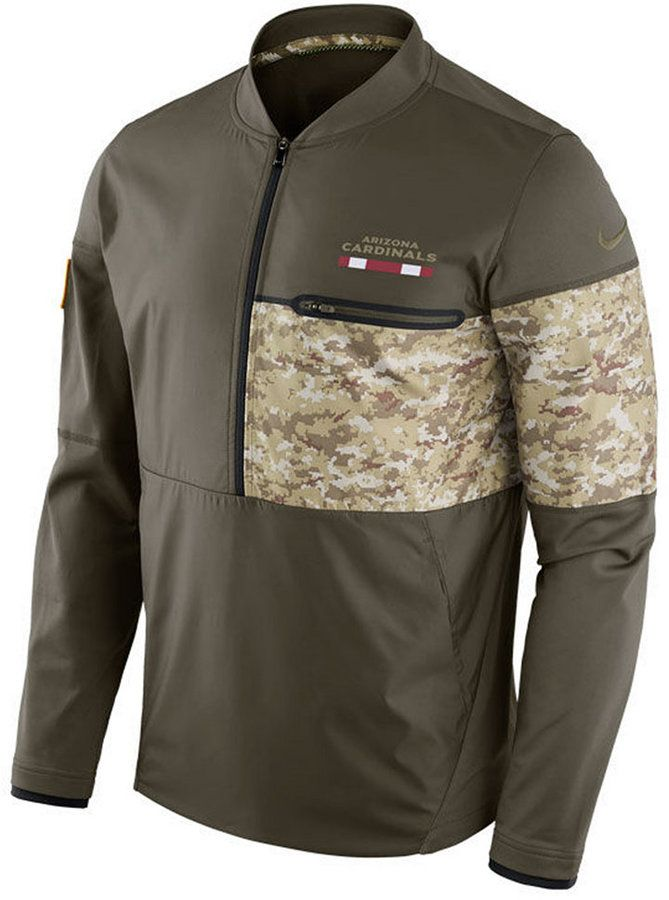 de6ba7478f87e Nike Men s Arizona Cardinals Salute To Service Hybrid Half-Zip Jacket