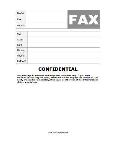 When Confidentiality Is Paramount Use This Fax Template As It