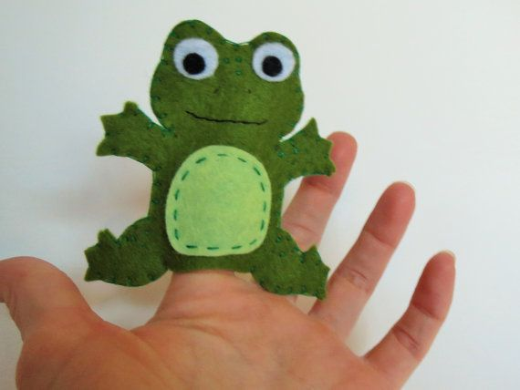 Frog finger puppet, finger pupet, frog toy, speckled frog, finger puppet, felt frog, felt puppet, handmade toy, unique gift, childrens toy #handmadetoys