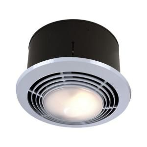 Nutone 70 Cfm Ceiling Exhaust Fan With Light And Heater 9093wh At The Home Depot Installation Instruc Bathroom Fan Light Exhaust Fan Light Bathroom Heat Lamp