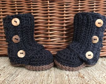 Crocheted Baby Wrap Boots Baby Boots Baby Wrap Boots Baby