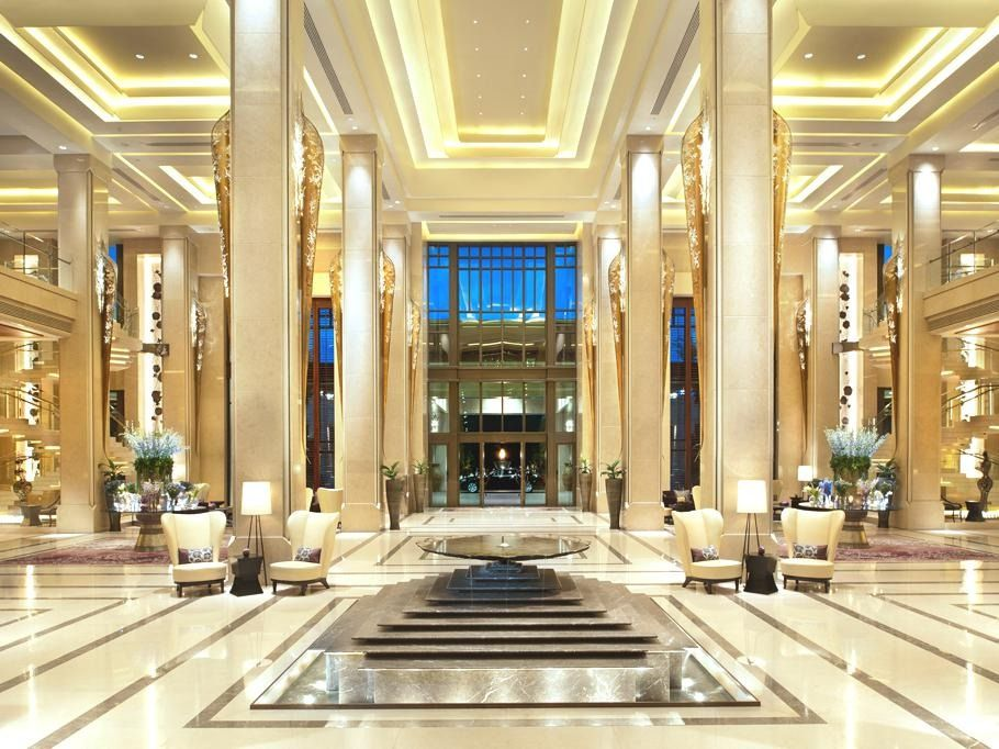 Pin by tiffany sim on lobby lounge hotel lobby design for Hotel entrance decor