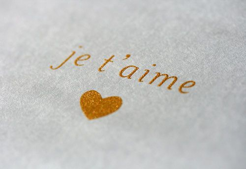 I love you...je t'aime