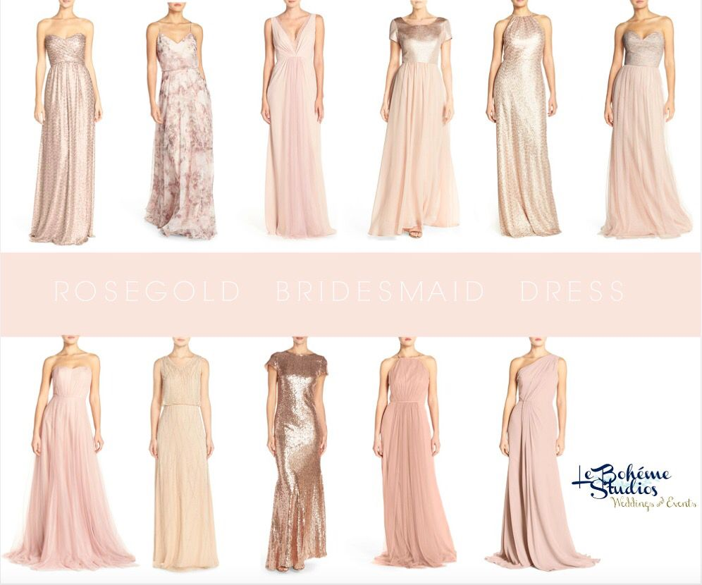 Beautiful Rosegold Bridesmaid Dresses. Our top picks for your ...