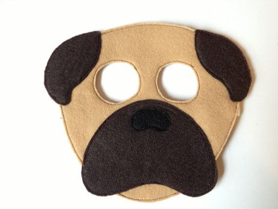 Pug Mask Child Pug Halloween Costumes Pug Mask Book Costumes