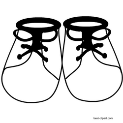 Black And White Baby Shoes Clipart Free Baby Stuff Free Baby Shower Shoes Clipart