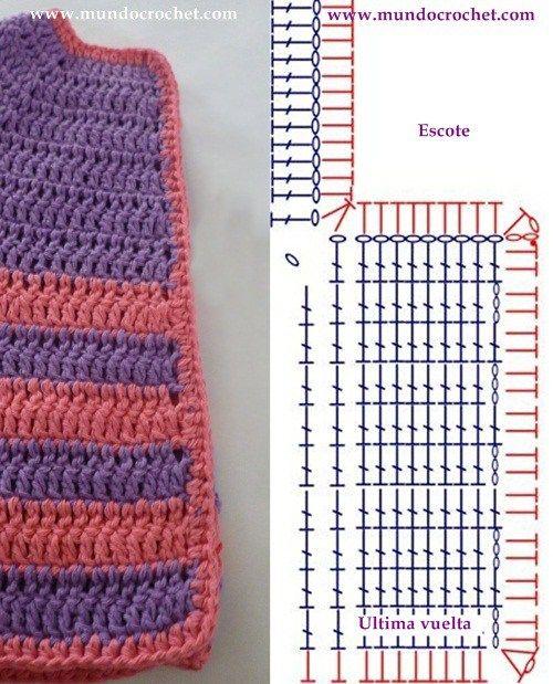 Como tejer un saco-campera-cardigan-chambrita a crochet o ganchillo ...