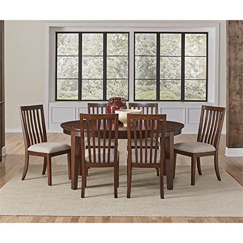 A-America Westlake 7 Piece Oval Extendable Dining Set In