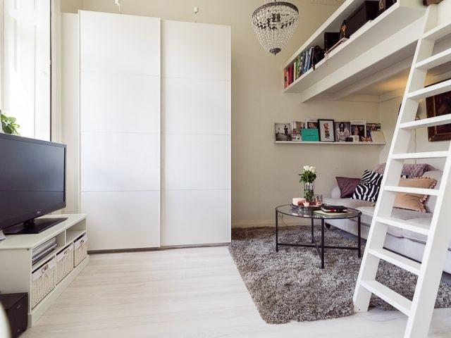 Hochbett Erwachsene Einzimmerwohnung Einrichten Modern Diy