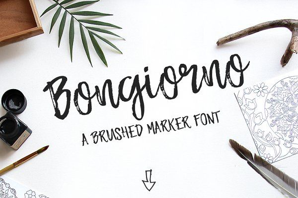 Brush marker font bongiorno fonts brush markers and markers