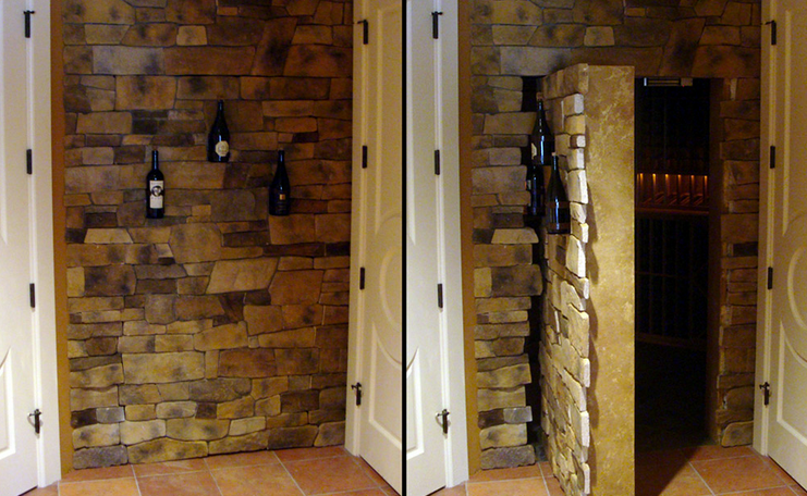 Secret Room Behind Stone Wall