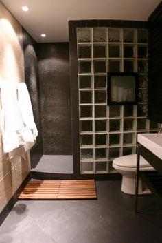 glass block shower designs alternative to the ceramic tile shower design ideas pictures