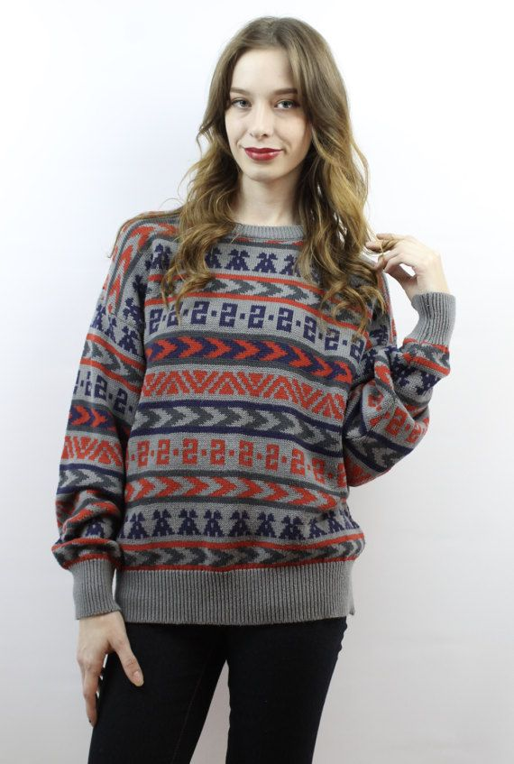 0bb758e82 Oversized Knit Oversized Sweater Oversized Jumper Southwestern ...