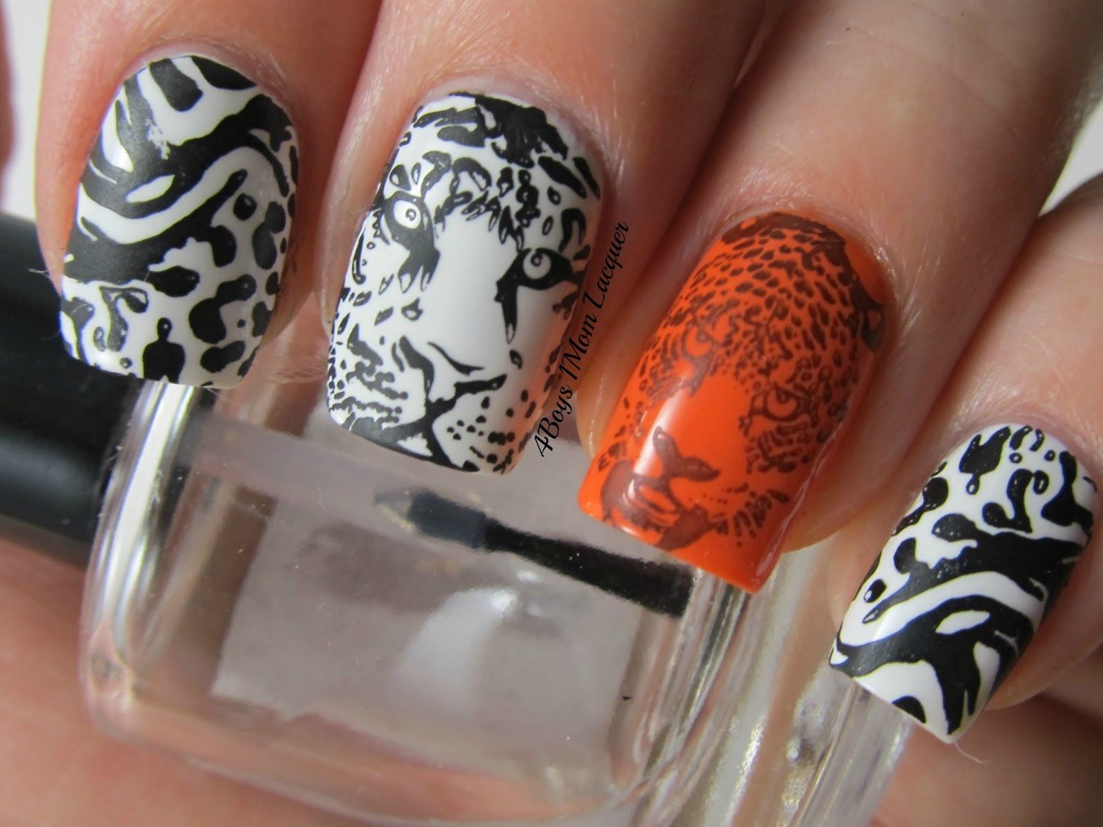 tiger nail art designs | Trendy Nail Art | Pinterest | Nail art ...