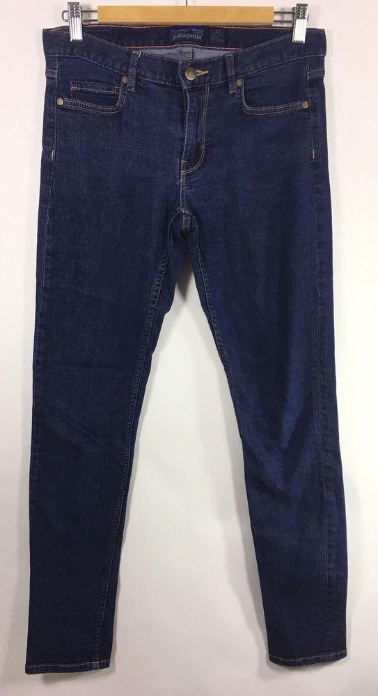 78c25c5a4e5 Patagonia Women s Slim Jeans 29 Skinny Stretchy Dark Wash Organic Cotton  Blend in 2018