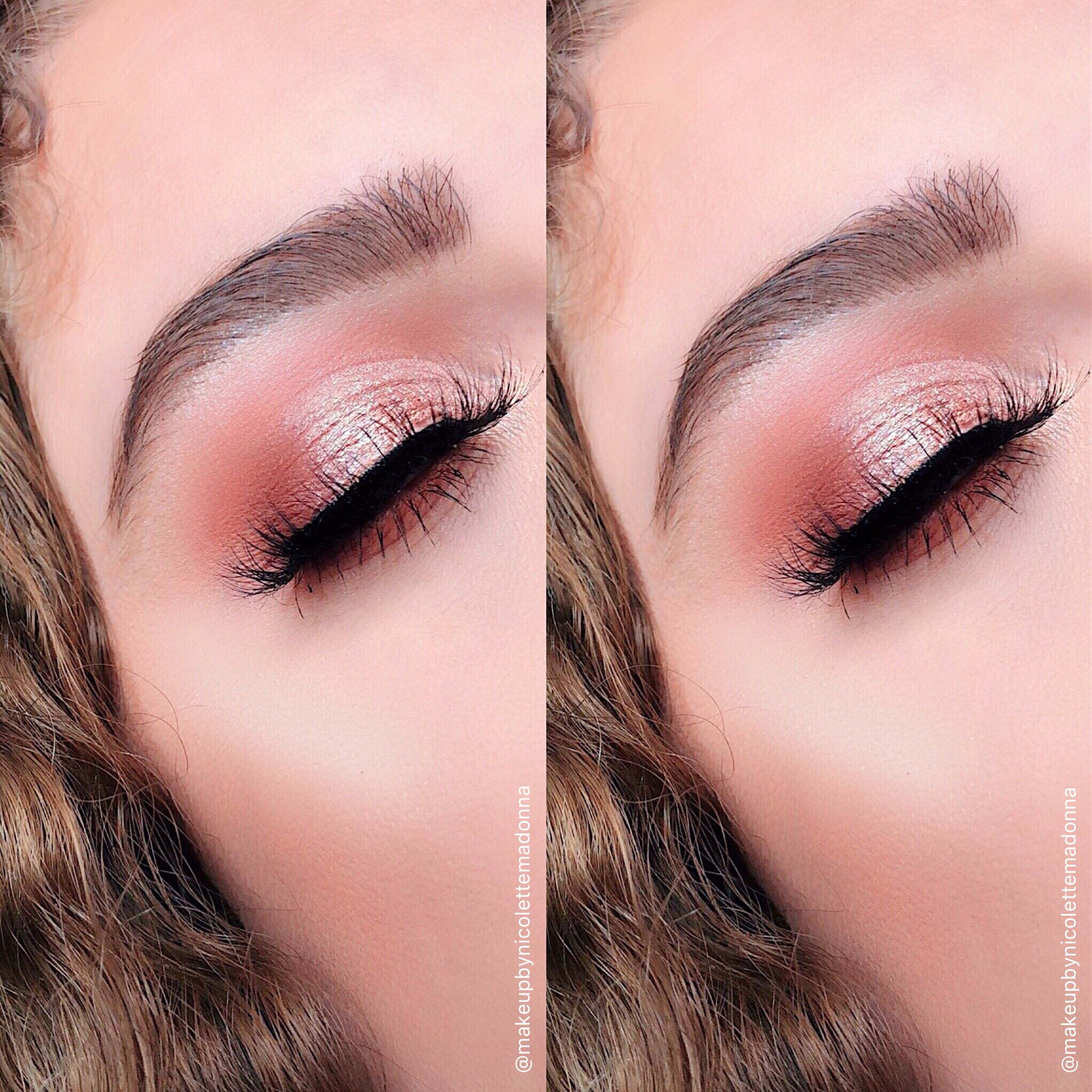 Soft cut crease and dramatic lashes! | prom makeup ⭕ | Pinterest