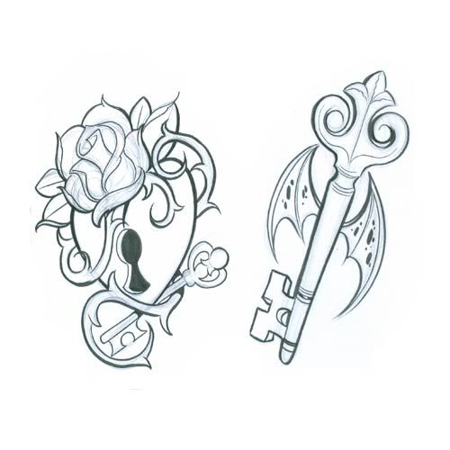 Lock and Key tattoos - would love for me and hubbie to get these ...