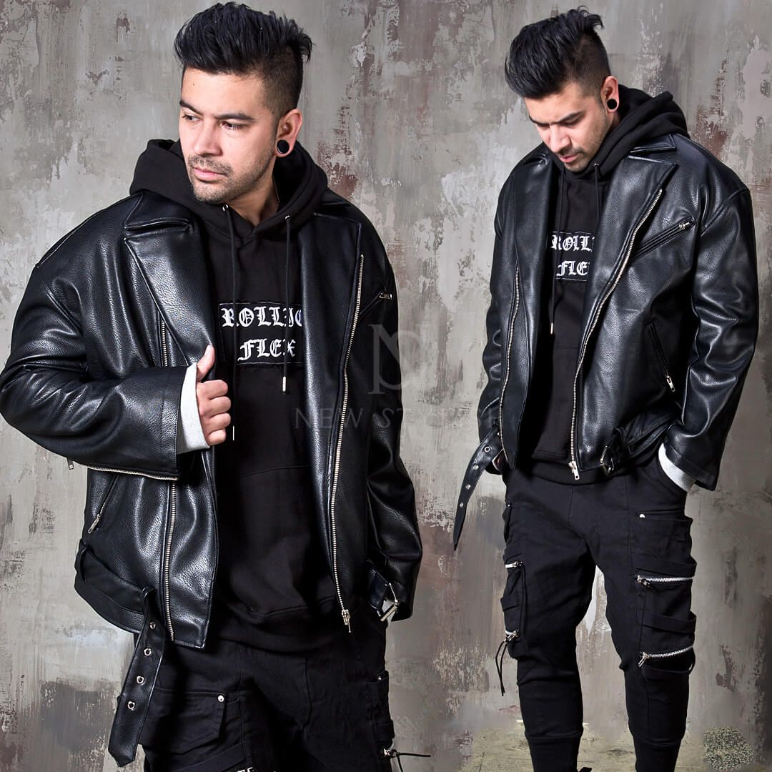 Outerwear Sold Out Loose Fit Black Leather Rider Jacket 152 For Only 135 00 Stylish Leather Jacket Jackets Men Fashion Riders Jacket [ 1080 x 1080 Pixel ]