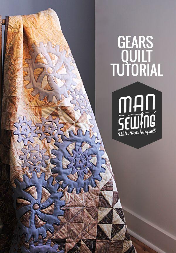 gears quilt pinnable (1) | Quilting | Pinterest | Patchwork, Quilt ... : steampunk quilt tutorial - Adamdwight.com