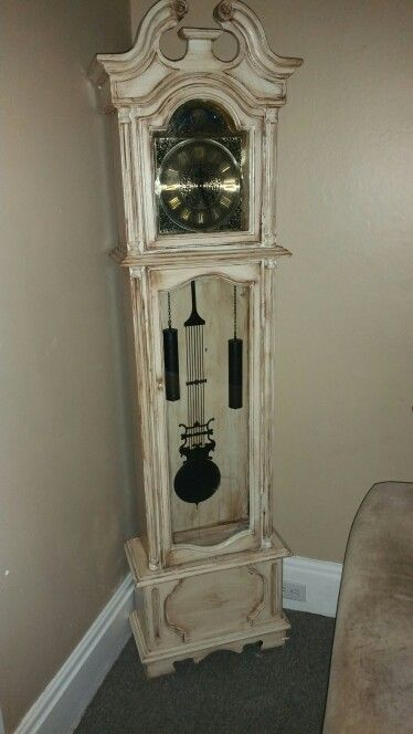 Distressed Grandfather Clock