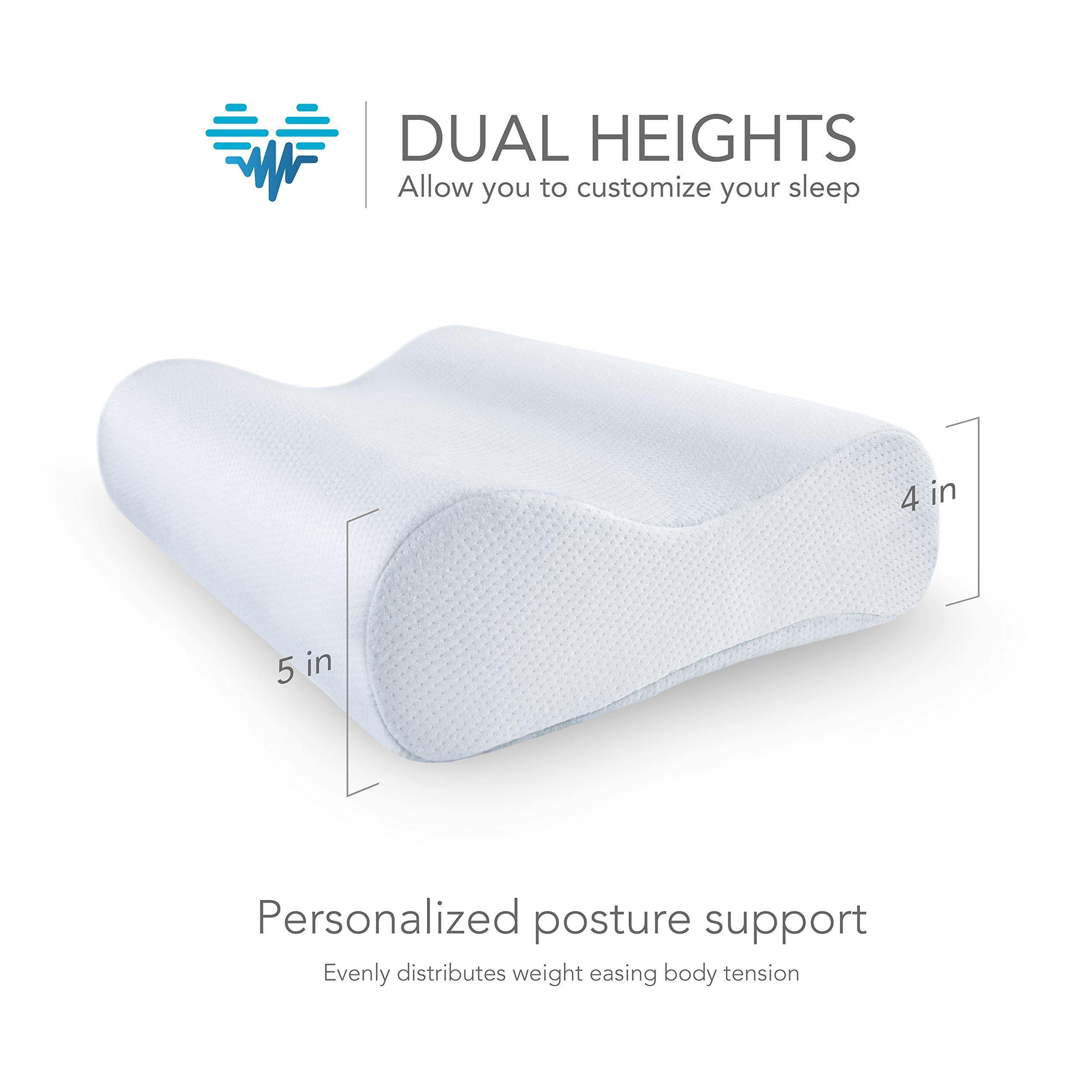 Pharmedoc Cooling Memory Foam Pillow 2 Pack Cooling Gel Infused
