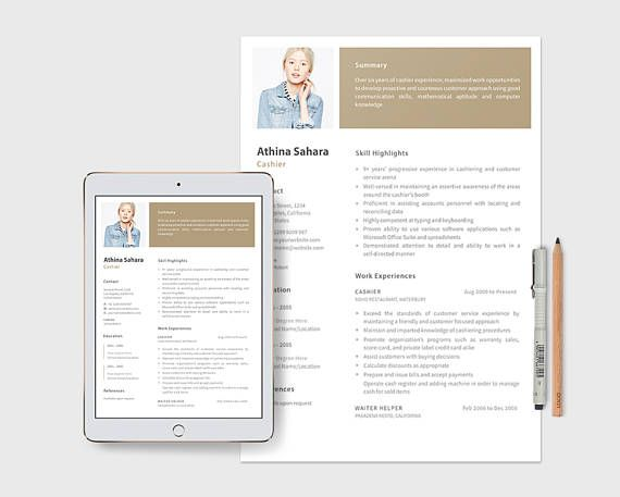 Cashier Resume Template Cover Letter Included Sample Text Resume - cashier resume