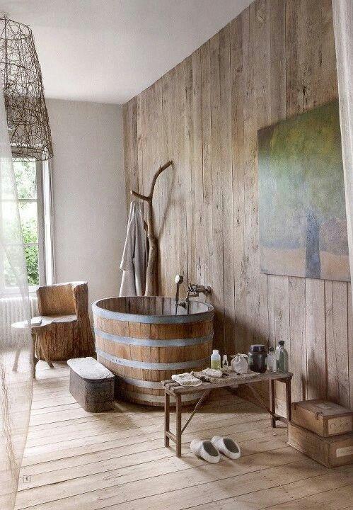 gorgeous barn style bathroom amazing barrel bath hausstylish rh pinterest com barn style bathroom cabinet barn style bathroom door