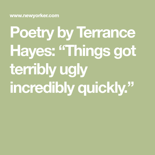 Terrance Hayes Poems 7