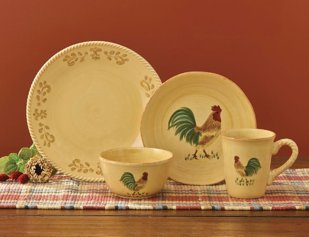 Free Range Dinnerware by Park Designs, Tuscan Pattern with ...