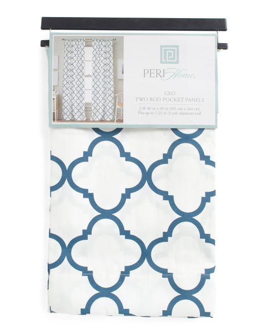 Peri Home Geo Rod Pocket Curtains 40 X 96 At Tj Maxx Blue