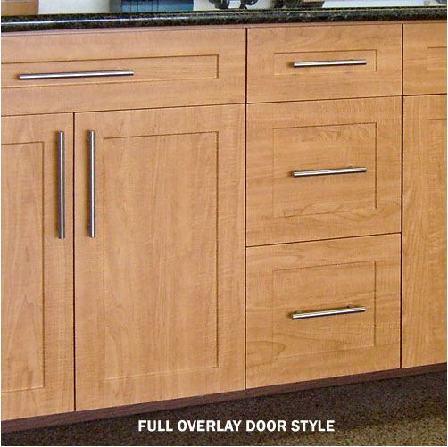 Frameless Kitchen Cabinets: Frameless Construction: Full Overlay Door Style