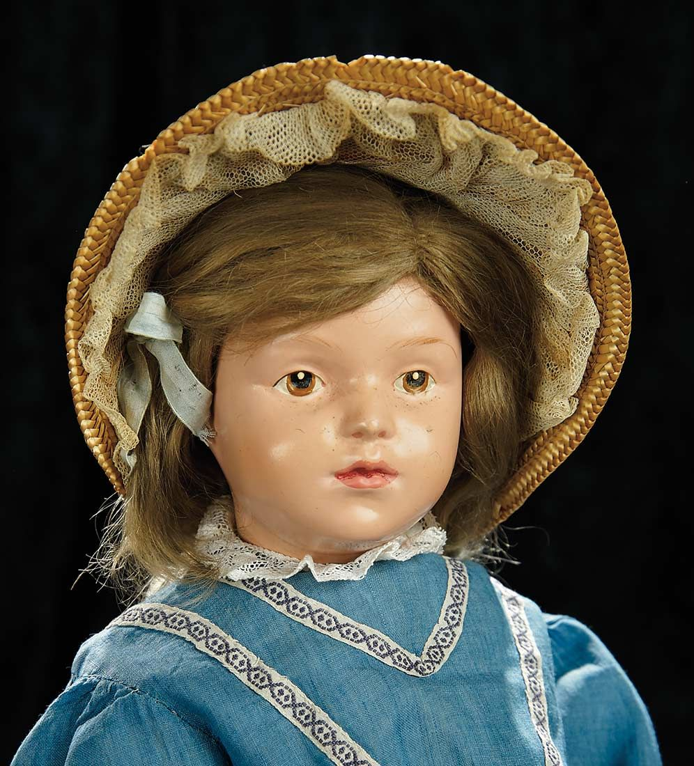 Soirée: Antique Dolls and Automata, May 14th: 164 American Carved Wooden Character Doll by Schoenhut